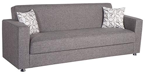 ISTIKBAL Multifunctional Furniture Living Room Sofa Sleeper Diego Grey Tokyo Collection