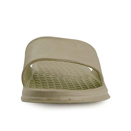 Zapatillas De Baño Equick Premium Para Mujer Y Hombre Antideslizante Para Interiores Con Casa Sandalia De Color Caqui