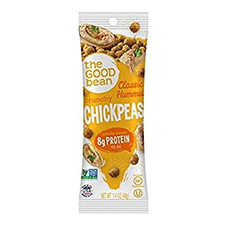The Good Bean Chickpeas Snacks Grab & Go, Classic Hummus, 1.4 Ounce, 10 Count