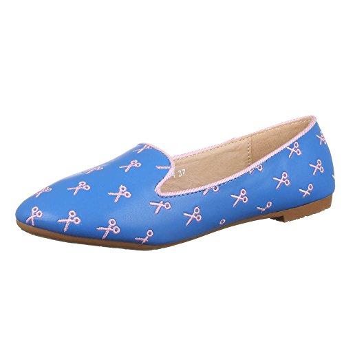 Ital-Design - Bailarinas de Material Sintético para mujer Azul - azul
