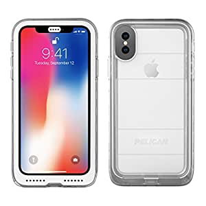 iPhone X Case | Pelican Marine Waterproof Case for iPhone X (Clear)