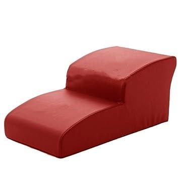 QZ Rampa Suave para Mascotas para Perros pequeños para el sofá Cama Alto 2 escalones para