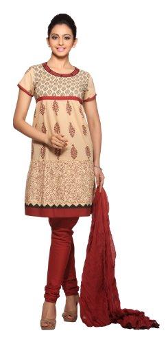 In-Sattva Women's Indian Salwar Kameez Set Rust (Rust Salwar)