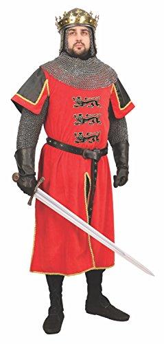 [Lionheart Velvet Tunic - Large/X-Large] (Costume Richard Coeur De Lion)