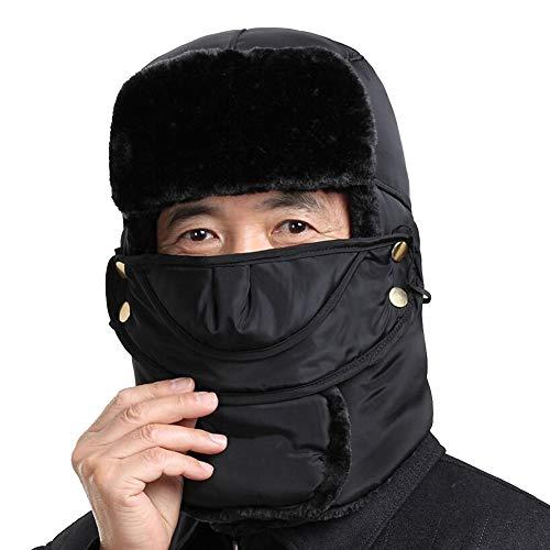 CJC Hats Mask Ear Flap Trooper Trapper Topnaca Unisex Neck Warmer Waterproof Thermal Warm (Color : T1, Size : - Hat Lv