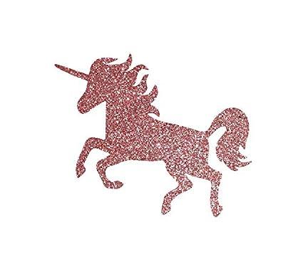 Glitter Unicorn Iron on Patch, Iron on Transfer, Gold Unicorn Iron on  Tranfer, Unicorn Decal (Rose Gold (Rose Pink), 4
