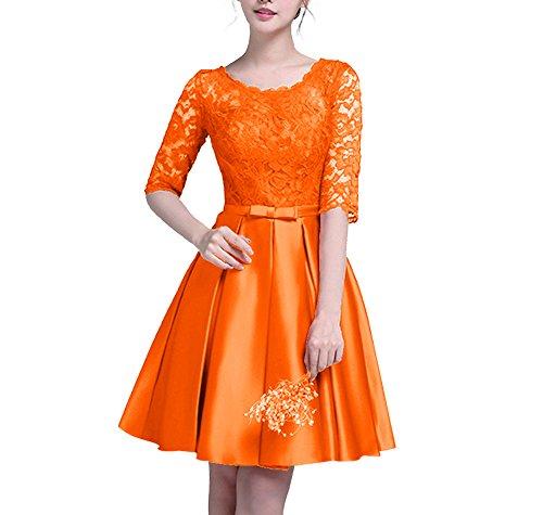 orange junior prom dresses - 9