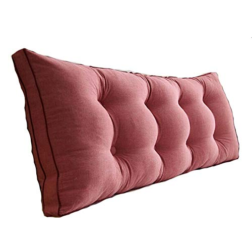 Bolster Cushion Filled - Lumbar Pad Backrest Bedside Back Cushions Headboard Pillow Cushion backrest Bolster Support Pillow Large Bed Backres TPillow-Bedside Large Backrest Waist Bed Cushion FENPING