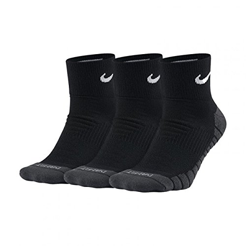 Nike 3PPK Dri-Fit Cushion Quarter Socks, Black/Anthracite/White, -