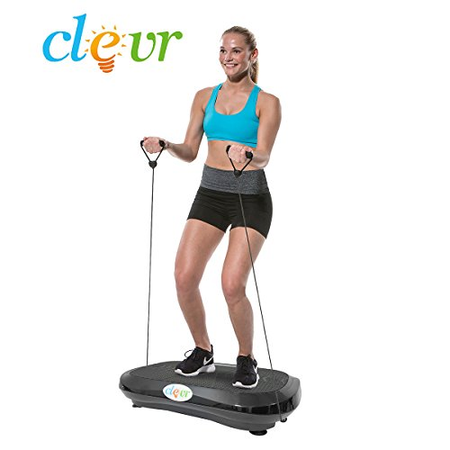 Clevr Upgraded Ultraslim Crazy Fit Full Body Vibration Platform Massage Machine, Remote Controlled, 180 Speed Levels, Built-in Blue Tooth Speaker, Max User Weight 330lbs, Black by Clevr (Image #7)