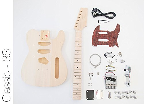 DIY Electric Guitar Kit Tele Style Build Your Own Guitar 3S