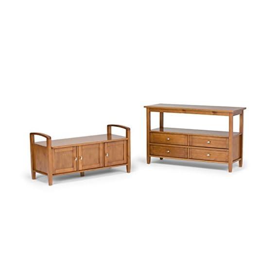 Simpli Home Warm Shaker Entryway Storage Bench, Distressed Grey -  - entryway-furniture-decor, entryway-laundry-room, benches - 41BsTuVZPEL. SS570  -