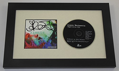 Alanis Morissette Jagged Little Pill Signed Autographed Music Cd Cover Compact Disc Custom Framed Loa
