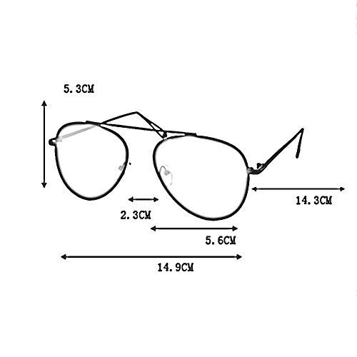 Couleur lunettes poche cordon Womens à LVZAIXI de Mens une Blanc avec soleil unisexe Black2 Aviator Générique AxHOE