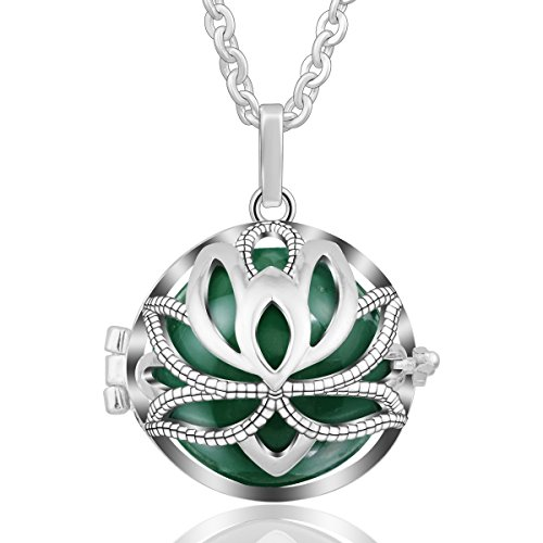 EUDORA Angel Chime Caller Necklace Water Lily Flower Music Chime Pendant Pregnancy Prayer, 30
