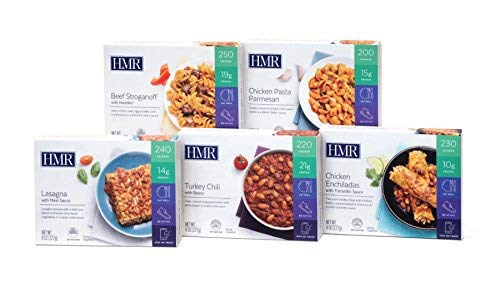 HMR Top 5 Entree Variety Pack: 1 ea. Chicken Pasta Parmesan, Beef Stroganoff, Chicken Enchiladas w/Tomatillo Sauce, Lasagna w/Meat Sauce, Turkey Chili w/Beans, 8 oz. Servings, 5 Count