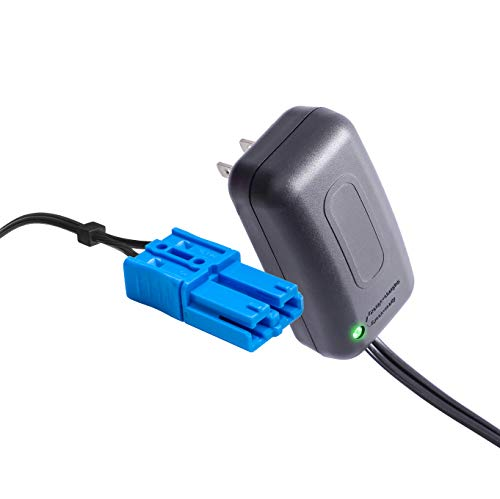 12 Volt Kid Trax Battery Charger with Grid Connector, for 12V Child Ride On Car Dodge Ram 3500 Beetle Mini Rideammales Scout Disney Mickey Minnie or Mouse Coupe and More (Charger Coupe)