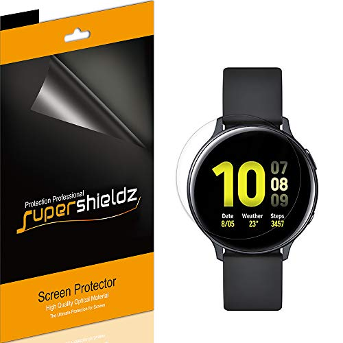 (3 Pack) Supershieldz for Samsung Galaxy Watch Active2 / Active 2 (44mm) Screen Protector, (Full Coverage) High Definition Clear Shield (TPU)