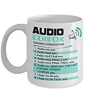 Audio Editor - Naming Convention Mug - Best Audio Editor , Birthday gift, Professional gift, professional Audio Editor gifts