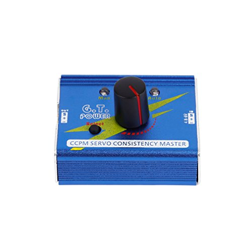 Servo Tester 3CH Digital Multi Servo Tester RC Aluminum Shell Servo Tester ECS Consistency Speed Controler Checker CCPM Master for RC Helicopter Car ()