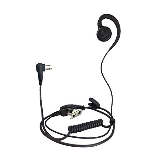 ProMaxPower Two Way Radio Swivel Headset Earpiece PTT for Motorola CP88 CP100 CP200D CLS1110 CLS1410 RMU2080D RDM2070D (1 Pack)
