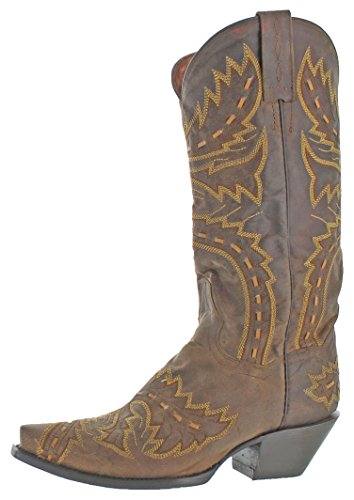 Dan Post Women's Sidewinder Leather Western Cowboy Boots Shoes