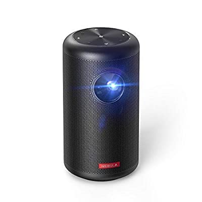 "Nebula Capsule II Smart Mini Projector, by Anker, Palm-Sized Portable 200 ANSI lm 720p HD Pocket Cinema with Wi-Fi, DLP, 8W Speaker, 100"" Picture, 3, 600+ Apps, and 2.5-Hour Video Playtime"