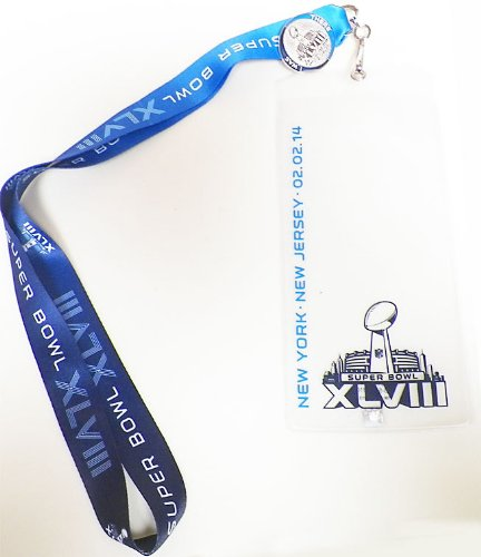 Pro Specialties Group Super Bowl XLVIII 48 Lanyard Ticket Holder and Pin (Super Bowl Xlviii Ticket Holder compare prices)