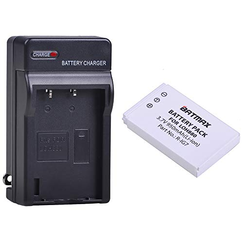 Batmax 1Pack R-IG7 Battery + AC Wall Battery Charger for Logitech Harmony One, 900, 720, 850, 880, 885, 890 Pro, H880 Universal Remote