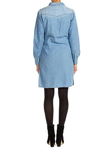 498 Waschung blusenkleidung Hellblaue langarm fit Jeans Steinwäsche Carrera kleid 590 für Denim slim frau Super q7BxtWUa
