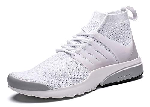 Ezkrwxn Men Athletic Walking Shoes mesh Breathable Comfort Sport Trail Running Shoes Youth Boys Tennis Sneakers Man Gym Workout Jogging Runner Trainers Fashion Casual White Size 7 (1909-white-40)