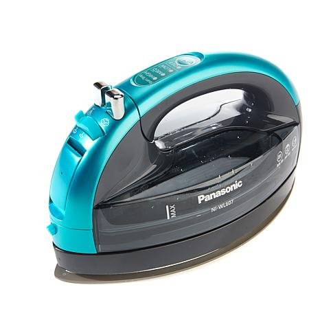 Panasonic 360º Freestyle Advanced Ceramic Cordless Iron NI-WL607 Teal by Panasonic