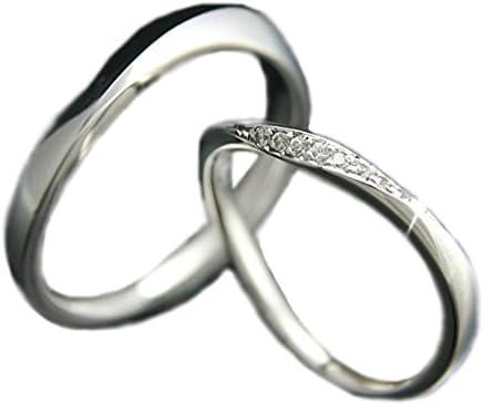 ペアリング プラチナ リング Pt900 マリッジリング 結婚指輪 日本製 レディース ダイヤ付