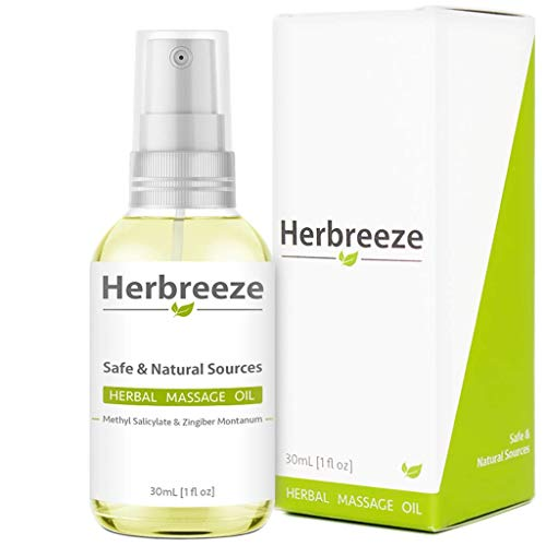 Herbreeze Ultimate Herbal Pain Relief Oil | Ultra Strength Natural Oils with Rapid Acting and Deep Penetrating Formula for Back, Knee, Foot, Heel, Neck, Shoulders etc