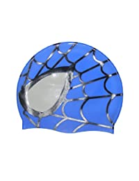 2pcs-Colorfulworld Children's swimming cap hat-Spider Silicone swimming cap