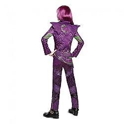 Disney Mal Deluxe Descendants 2 Costume with Wig, Purple