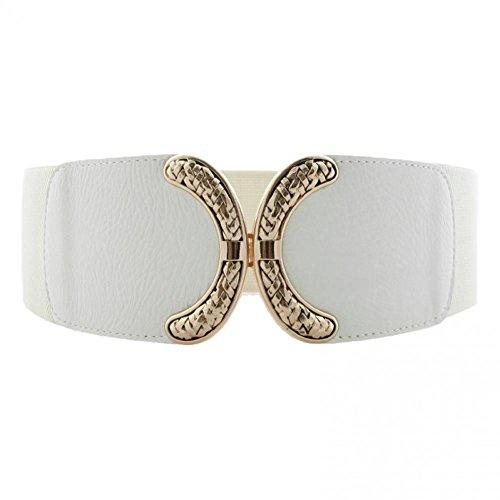 terlock Buckle Womens Elastic Waist Belt Cinch (Interlock Buckle)