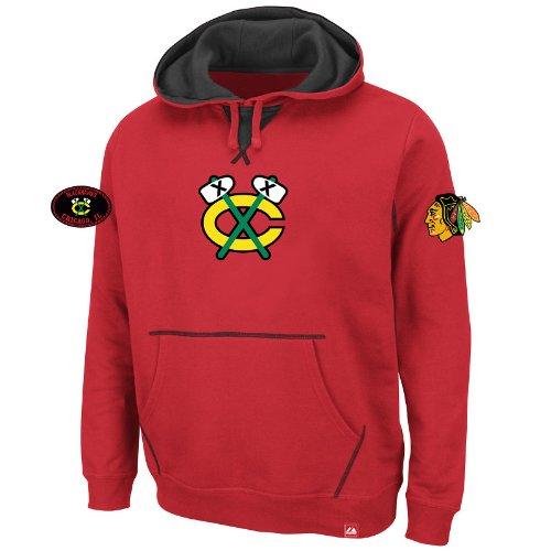Majestic Athletic NHL Eishockey Hoody Kaputzenpullover Hooded Sweater Chicago Blackhawks Sky High in XXL (2XL)