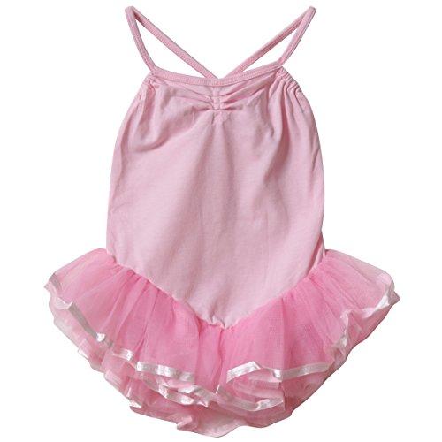 Girls Pink Ballerina Tutu Leotard, Size Large (6/8)