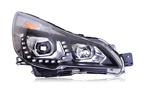 GOWE Car Styling For Subaru Outback 2010-2014 for Outback head lamp LED DRL Lens Double Beam D2H HID Xenon bi xenon lens Color Temperature:8000K Wattage:35W 3