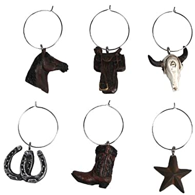 REP 6 Piece Western Wine Charms 194