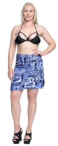 costume da bagno costume da bagno breve sarong mini involucro beachwear insabbiamento gonna pareo blu