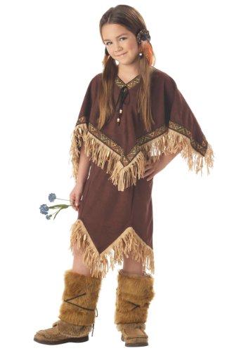 Calif (Girls Tan Native Princess Indian Costumes)