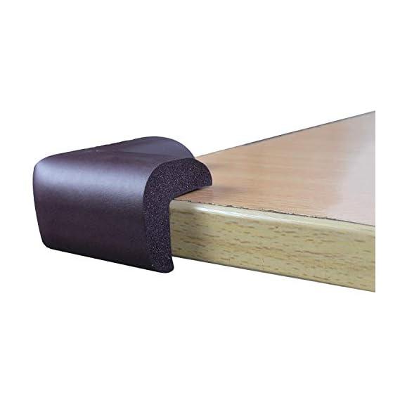 TONY STARK Corner Edge Protector,Table Desk Corner Edge Protector,Kids Safety Corner Cushion Bumper Guard Protector(8 Pieces,Brown)