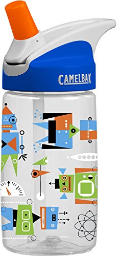 CamelBak Kid's Eddy Water Bottle, Atomic Robots, .4-Liter by CamelBak