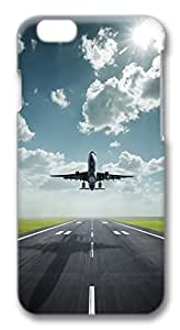 Amazing Lifting Off Airplane PC Case Cover for iphone 6 plus 5.5inch