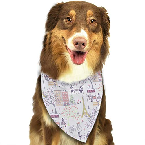 OURFASHION Waverly Inspirations Bandana Triangle Bibs Scarfs Accessories for Pet Cats and Puppies.Size is About 27.6x11.8 Inches -