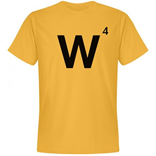 [Word Games Costume, Letter Tile W: Unisex Next Level Premium T-Shirt] (Letter W Halloween Costumes)