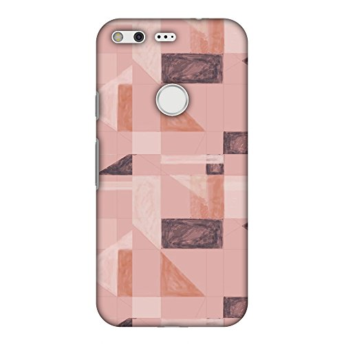 (AMZER Slim Fit Handcrafted Designer Printed Snap On Hard Shell Case Back Cover for Google Pixel XL - Sooty Pastels- Saturated Pink HD Color, Ultra Light Back Case)