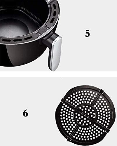 Pkfinrd Air Fryer, 4.5QT électrique à air Chaud friteuses Four Oilless Cuisinière, 7 préréglages, Préchauffez & Shake Rappel, Antiadhésif Panier, 1300W, A